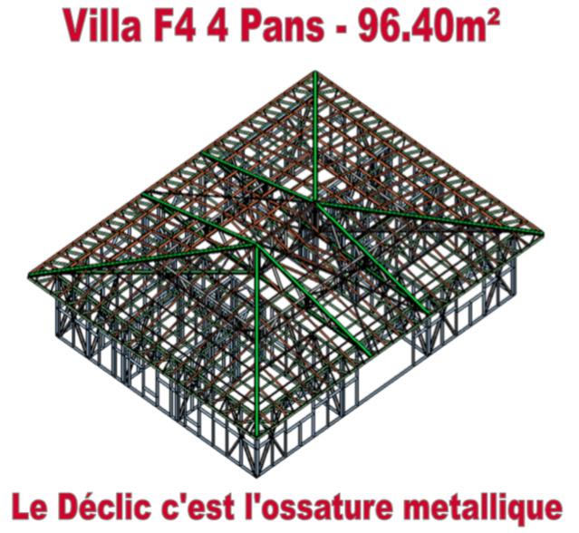 Villa F4 - 4 pans - 96,4 M2
