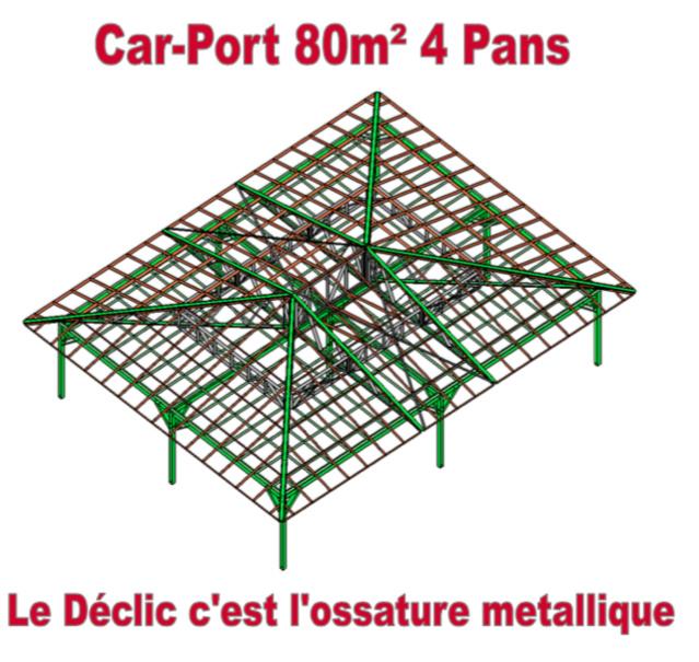 Car-Port 80M2 4 pans