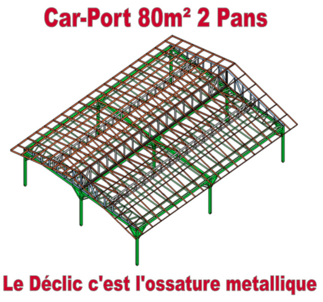 Car-Port 80M2 2 pans