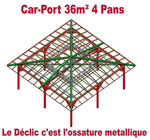 Car-Port 36M2 4 pans