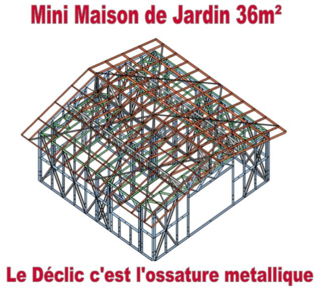 Mini maison de jardin 36M2