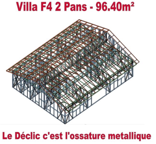 Villa F4 - 2 pans - 96,40M2