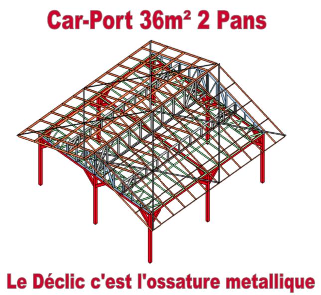 Car-Port 36M2 2 pans