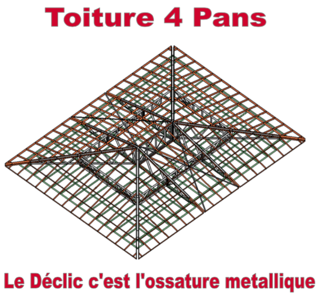 Toiture 4 pans pour construction de 80M2