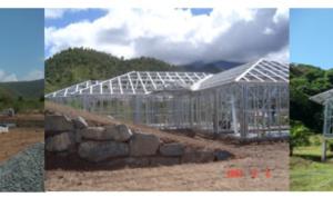 La réalisation d'ossature pour villa, bungalow ou locaux commerciaux :