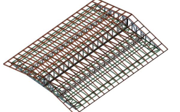 Toiture 2 pans pour construction de 80M2